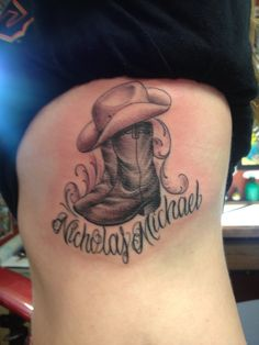 cowboy boot tattoo