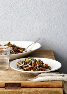 Lentil salad and grilled vegetables Lentil Recipes, Healthy Recipes, Summertime Salads, Clean Eating, Healthy Eating, Grilled Vegetables, Veggies, Eat Seasonal, Vegan Meal Plans