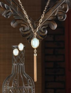 Opalescent Tassel Jewelry Set