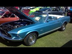 1969 Ford Mustang Convertible GT with a 351 W, FMX auto trans, deluxe interior at the Long Beach Mustang show September 2012.