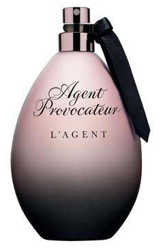 Agent Provocateur 'L'Agent' Eau de Parfum available at #Nordstrom,     Darkly mysterious and powerfully seductive, L'Agent is the latest fragrance from Agent Provocateur. L'Agent is an alluringly magnetic potion that captures your senses in a flight of provocative oriental florals, intoxicating amber and erotic musk.  1.7 oz. $87., 3.3 oz., $118.  By Agent Provocateur.
