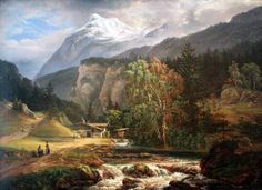 Alpine Landscape jigsaw puzzle in Waterfalls puzzles on TheJigsawPuzzles.com