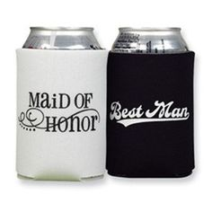 """Bridal Party Coozies - """"To have and to hold and to keep your beer cold"""""""