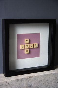 scrabble #letterfun #wordplay #crossword #scrabble #DIY #craft