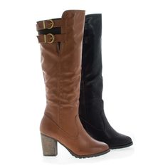 Rattle14 Knee High Lug Sole Platform Faux Wooden Heel Riding Boots#women #shoes #highheel #boots #sandal #dressshoes#dresssandal - enter AquaFind during checkout to receive 15% off.
