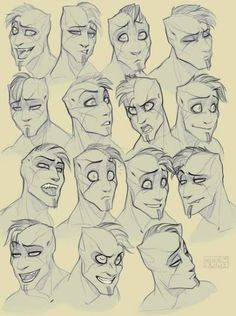 Drawing Reference Face Sketch Facial Expressions Ideas For 2019 Drawing Cartoon Faces, Cartoon Drawings Of People, Cartoon People, Drawing People, Drawing Men Face, Cartoon Bodies, Drawing Face Shapes, Shading Faces, Drawing Cartoons