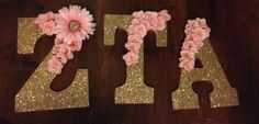 Sorority wooden letters: Zeta Tau Alpha