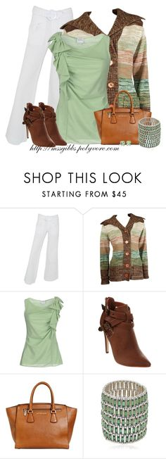 """""""Sage"""" by mssgibbs ❤ liked on Polyvore featuring Serfontaine, Armani Collezioni, SPURR, MICHAEL Michael Kors, Philippe Audibert and Tiffany & Co."""