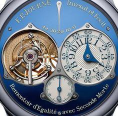 F.P. Journe Tourbillon Soverain Bleu for ONLY WATCH 2015 dial detail - Perpetuelle