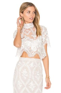 Check our latest styles of Tops such as Lace at REVOLVE with free day shipping and returns, 30 day price match guarantee. Sheer Crop Top, Crop Tops Online, Stone Cold Fox, Lace Skirt, Dressing, Two Piece Skirt Set, Bride, Casual, Clothes