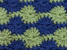 crochet stitch - two colour catherine wheel (reversible)