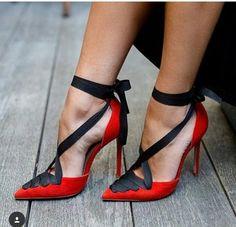 Rojo Red Heels, High Heels Stilettos, Red Pumps, Stiletto Pumps, Louboutin Pumps, Women's Pumps, Black High Heels, Christian Louboutin, Fab Shoes