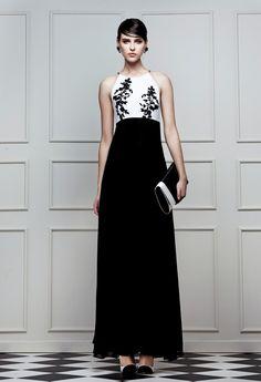 siyah beyaz elbise, black and white dress, monokrom