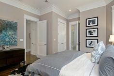 greige bedroom feminine// love this wall color.  Rent-Direct.com - Apartments for Rent in New York - With No Broker Fee.