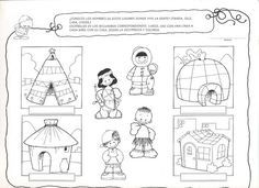 Tipos de viviendas Formation Montessori, Bible Mapping, Les Continents, Around The World In 80 Days, Activity Sheets, Bible Lessons, English Lessons, Kindergarten Activities, Life Science