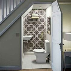 Captivating toilet under the stairs Design the best ideas about the bathroom . - Captivating Toilet Under the Stairs Design the best ideas about the bathroom under the stairs on Pi - Closet Under Stairs, Bathroom Under Stairs, Under Stairs Cupboard, Basement Bathroom, Toilet Under Stairs, Shiplap Bathroom, Bathroom Closet, Bathroom Mirrors, Bathroom Faucets