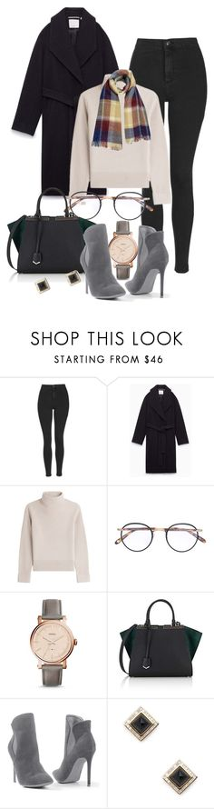 """""""Busy Days"""" by hiddensoulmemories ❤ liked on Polyvore featuring Topshop, Méline, Vanessa Seward, Garrett Leight, FOSSIL, Fendi, Venus and Shay"""