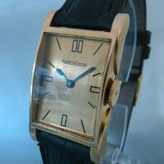 JAEGER LECOULTRE vintage rare art deco pink gold  from movement
