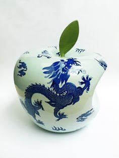 Corporate Logos as Traditional Chinese Ceramics by Li Lihong   Inspiration Grid   Design Inspiration