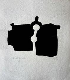 Zubi de Eduardo Chillida Grabado Xilografico a la venta obra grafica