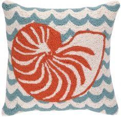 Waves / Nautilus Hook Pillow