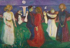 Artwork image, Edvard Munch, Livets dans (The Dance of Life)