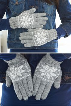 How cute are these ready-for-winter snowflake gloves? The pattern for these is in Issue 19 and can be found here: http://www.hachettepartworks.com/products/9375-art-of-knitting.aspx #knit #knitting #artofknitting