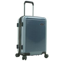 Latitude 40°N® Ascent 2.0 20-Inch Hardside Spinner Carry On Luggage | Bed Bath & Beyond Best Luggage, Carry On Luggage, Hardside Spinner Luggage, Combination Locks, Built In Storage, Bed & Bath, Abs, Blue, Wheels