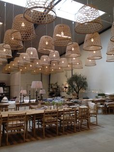 tine k. home. basket lighting amazing room bohemia open back chairs low Cafe Restaurant, Cafe Bar, Vietnamese Restaurant, Seafood Restaurant, Restaurant Lighting, Restaurant Design, Bamboo Restaurant, Waterfront Restaurant, Restaurant Photos