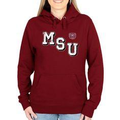 Missouri State University Bears Women's Acronym Pullover Hoodie - Maroon