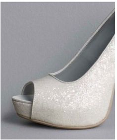 Vera Wang White for David's Bridal sparkle and open toe @Lindsay Green