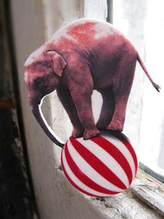 Circus Elephant Circus Vintage Carnival Inspired by whatanovelidea, $22.00