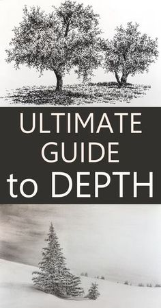 Ultimate Guide to drawing and painting DEPTH. 15 methods to draw and paint the illusion of depth.THE Ultimate Guide to drawing and painting DEPTH. 15 methods to draw and paint the illusion of depth. Realistic Drawings, Cool Drawings, Pencil Drawings, Flower Drawings, Drawing Flowers, Horse Drawings, Disney Drawings, Pencil Drawing Tutorials, Art Tutorials