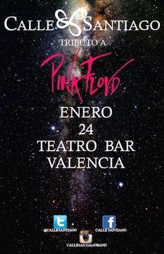 """Cresta Metálica Producciones » El Teatro Bar Valencia presenta: """"Calle Santiago: Tributo a Pink Floyd"""" // 24 Enero 2015"""