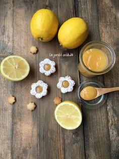 Biscuits à la crème de citron (lemon curd) Trop trop bons !!!!