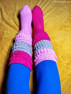 Thigh High Socks, Thigh Highs, Slouch Socks, Pink Grey, Gray, Thighs, Layers, Outfits, Fashion