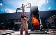 In rural Porirua, Dr Kevin Frank is lighting a lot of fires. They're the first tests of cladding being run in NZ in response to the Grenfell Tower disaster in London. Multi Storey Building, Science Week, Primary Science, Teaching Activities, Cladding, New Zealand, No Response, Purpose, Buildings