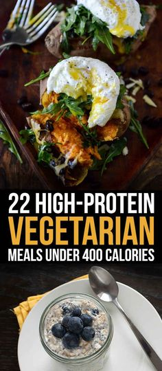 22 High-Protein Meatless Meals Under 400 Calories- not all are vegan, but are meatfree