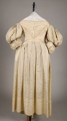 Wedding Dress | American | 1835 | silk | Brooklyn Museum Costume Collection at The Metropolitan Museum of Art | Accession Number: 2009.300.6261