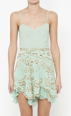 Mint sequined dress