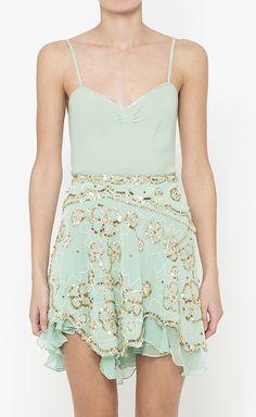 Mint sequined dress
