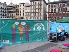 Tarde en la Plaza del Castillo de Pamplona