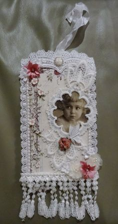 Shabby Chic Tag #3 for a swap on FB.♡