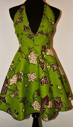 Beautiful floral African Print Dress by IONBafricanstyles on Etsy, $59.99