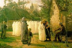 """Jules Breton:   """"The Communicants"""", 1884, oil on canvas,  Private collection,"""