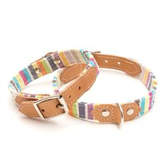 Pastel Stripe Kikoi Dog Collar - Hiro and Wolf