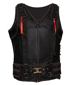 Bane The Dark Knight Rises Bane Black Celebrity Leather Vest: Amazon.co.uk: Clothing