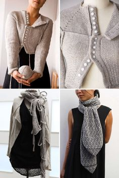 Melbourne, Australia based knit wear designer Wendy Voon, love the different solution for closure