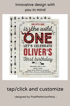 Shop Wild One Invitation Boy Rustic Lumberjack Wild One created by PixelPerfectionParty. Rustic Invitations, Zazzle Invitations, Invitation Design, Third Birthday Boys, First Birthday Invitations, Wild Ones, Lets Celebrate, Rsvp, First Birthdays