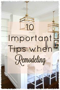 10 Important Tips to do when Remodeling your Home is part of home Remodeling Tips - 10 Important Tips to do when Remodeling your Home tips to help making your remodel run smoothly for you and your family Home Improvement Loans, Home Improvement Projects, Home Projects, Fixer Upper, Basement Remodeling, Kitchen Remodeling, Remodeling Ideas, Remodeling Contractors, Do It Yourself Home